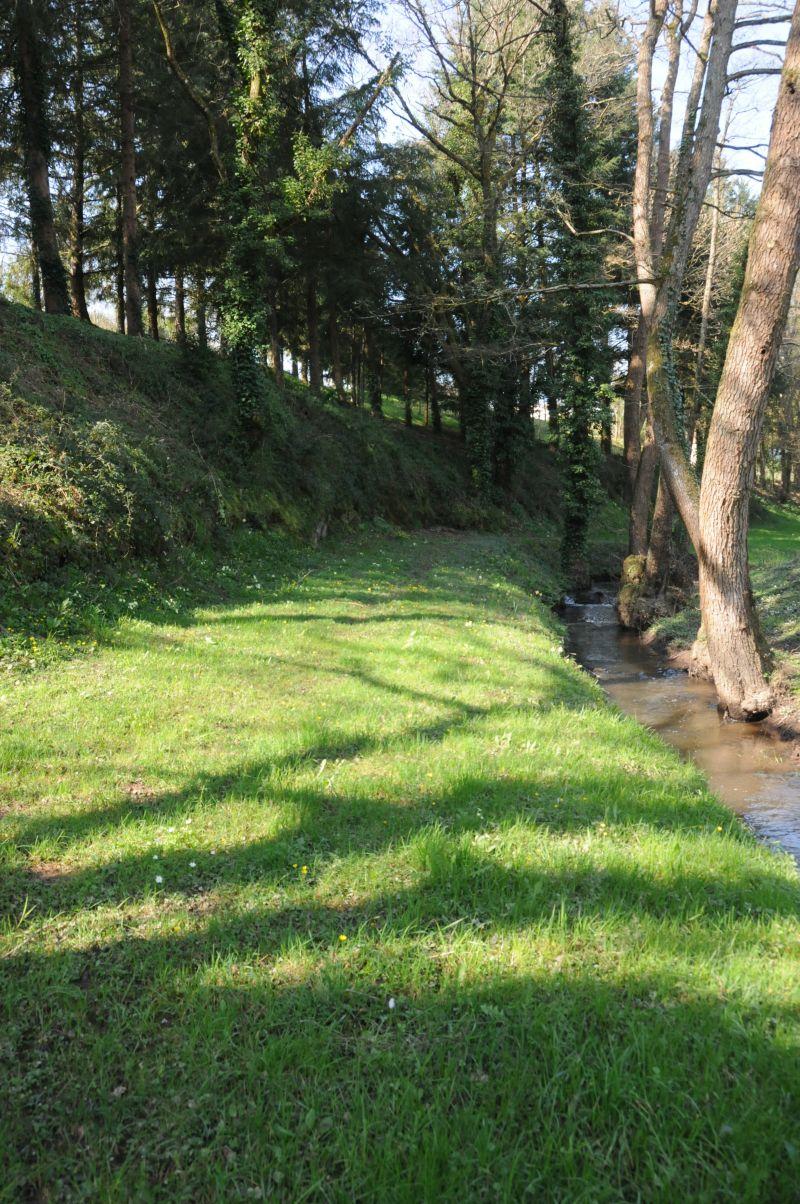 Emplacement de camping au bord de la rivière