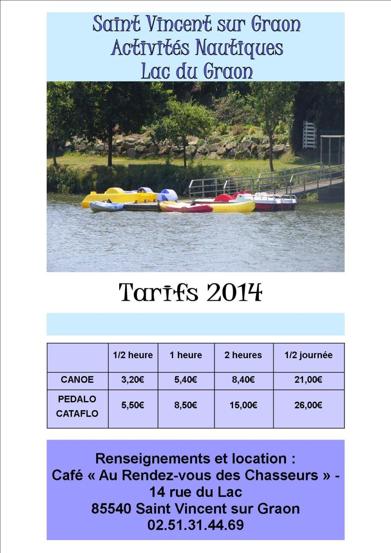 Activits Nautiques tarifs A4 2014