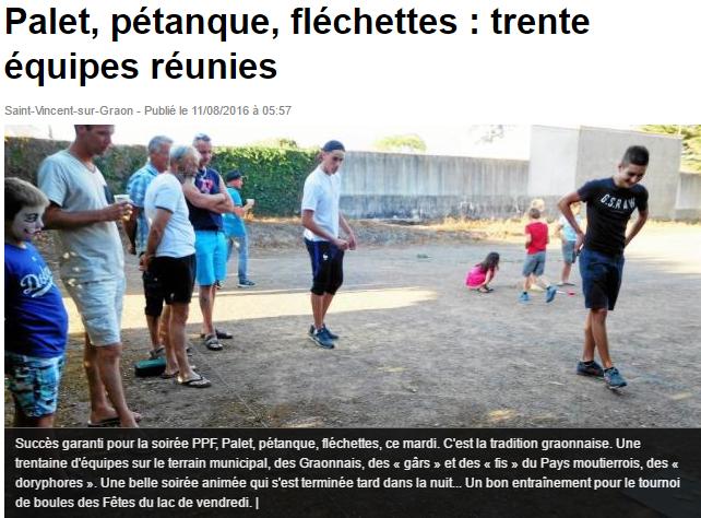 Ouest France 11 août 2016