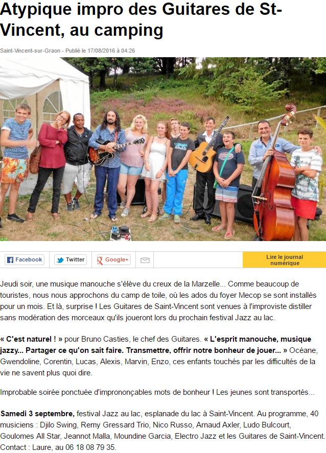 Ouest France 17 aout 2016